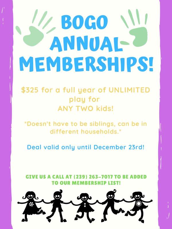 BOGO Annual Membership - Whiz Kids Naples