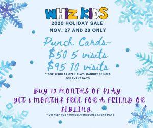 Holiday Sale Nov. 27 & 28 | Whiz Kidz Naples